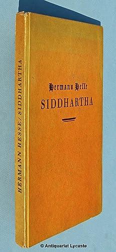 Siddhartha. Eine indische Dichtung. - Erstausgabe: Hesse, Hermann:
