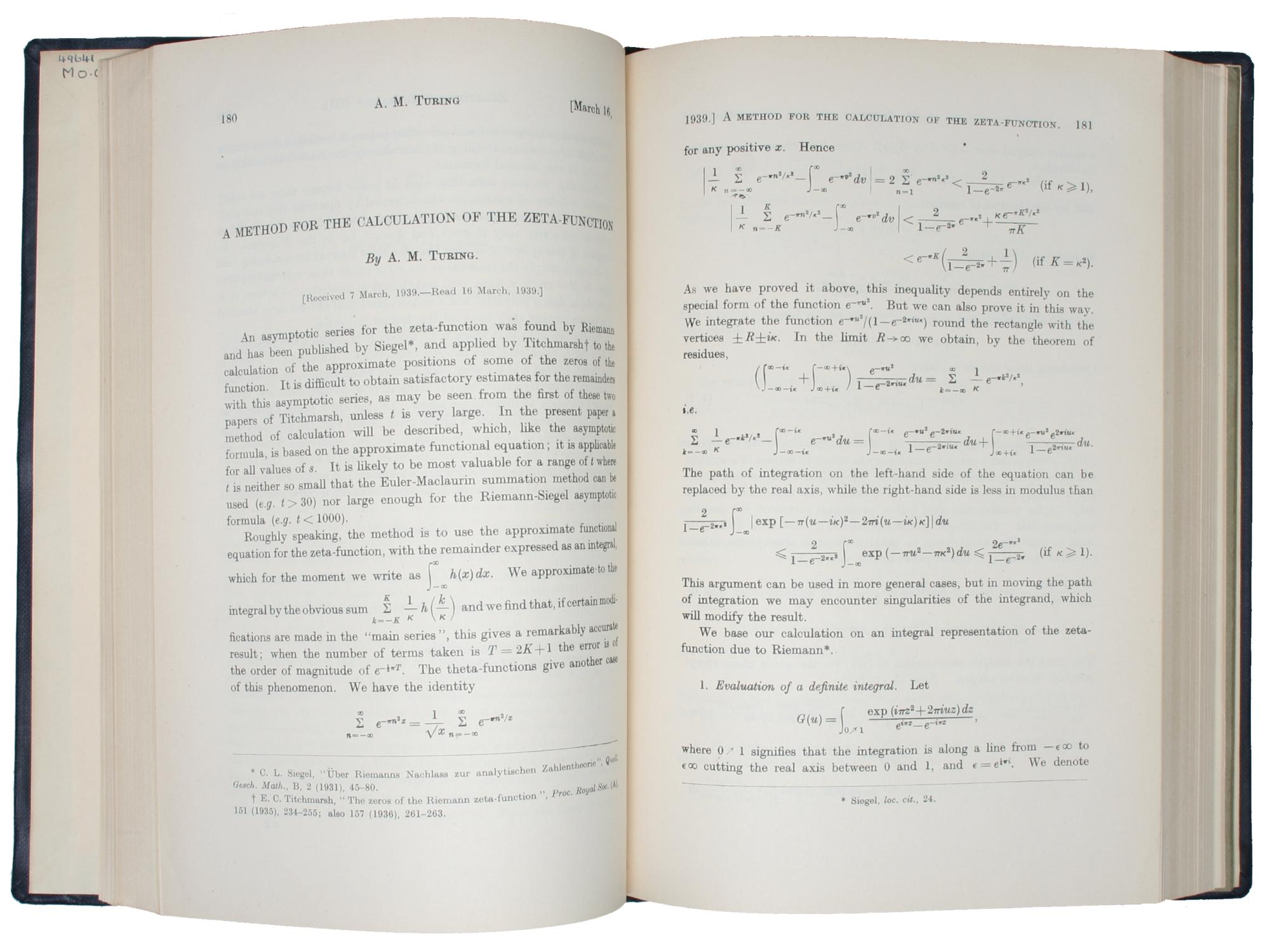 A Method for the Calculation of the