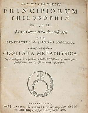 Renati des Cartes Principiorum Philosophiae Pars I,: SPINOZA, BENEDICTUS de.