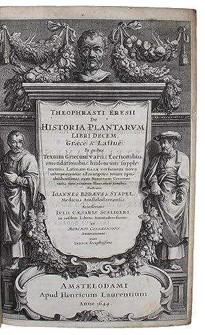 De historia plantarum libri decem. Graecè &: THEOPHRASTUS ERESII. -