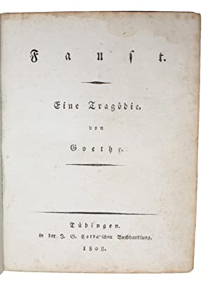 Faust. Eine Tragödie.: GOETHE, (JOHANN WOLFGANG