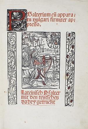 Psalterium cu(m) apparatu vulgari firmiter appresso. Lateinisch: PSALTER. - [A