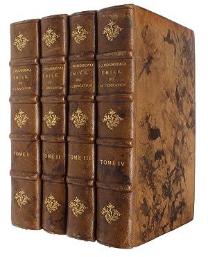 Émile ou de l'éducation. 4 Tomes.: ROUSSEAU, J.J.