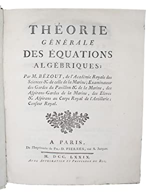 general theory of algebraic equations feron eric bzout etienne