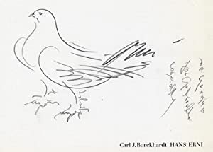 Hans Erni (Original drawing SIGNED by Hans Erni): Burckhardt, Carl J.