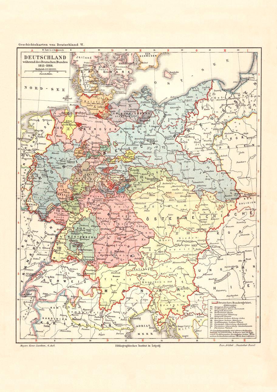 Land Karte Deutschland.Alte Landkarte Deutschland Wahrend Des