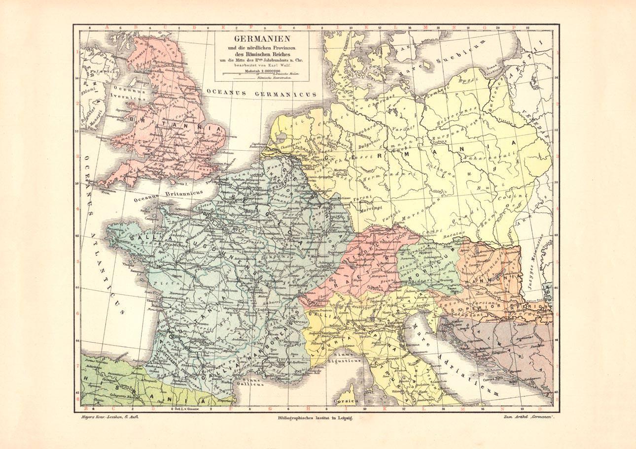 Heiliges Römisches Reich Karte.Karte Des Roemischen Reiches Zvab