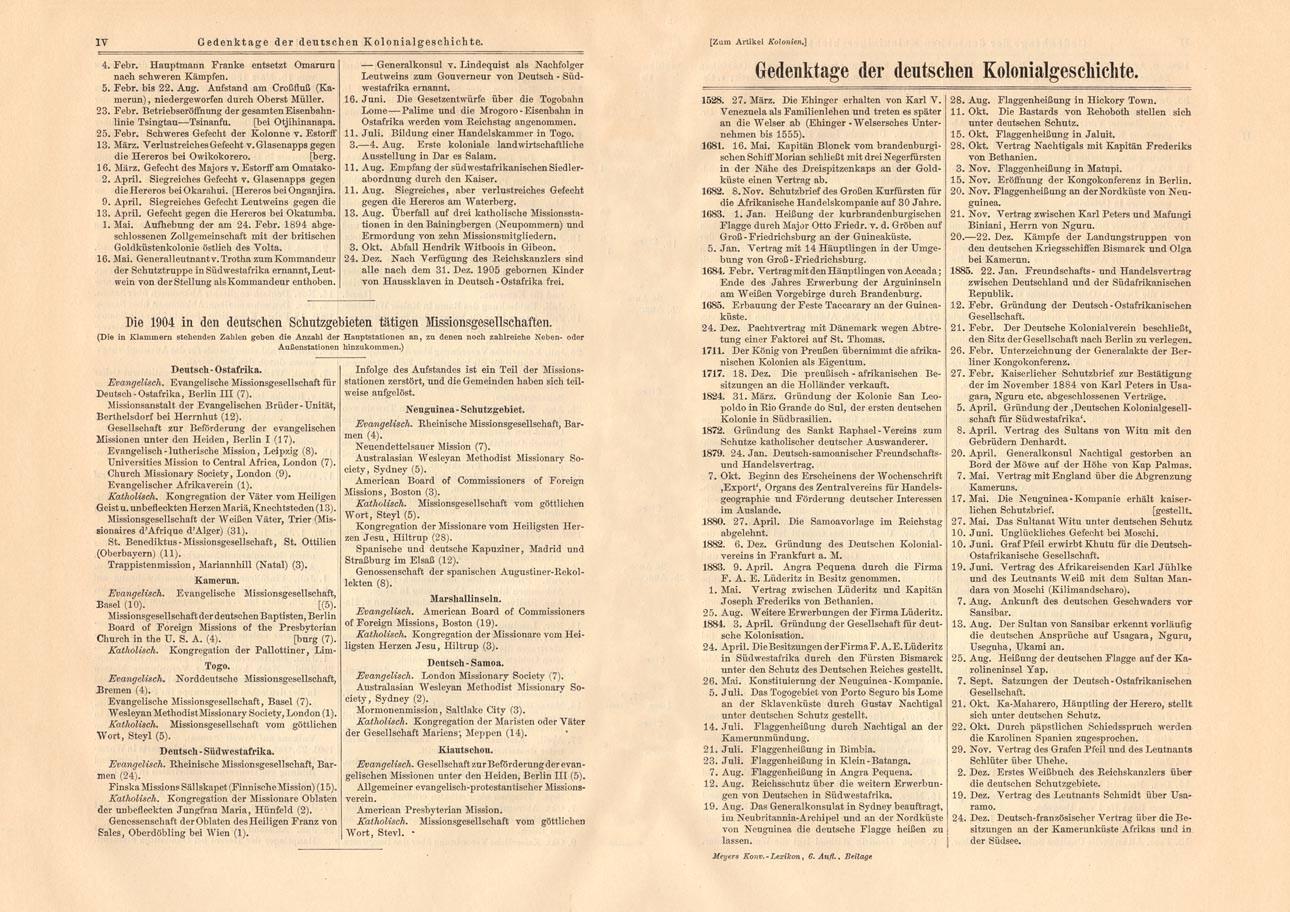 Altes historisches Dokument Deutsches Reich Kolonien Buchdruck 1905