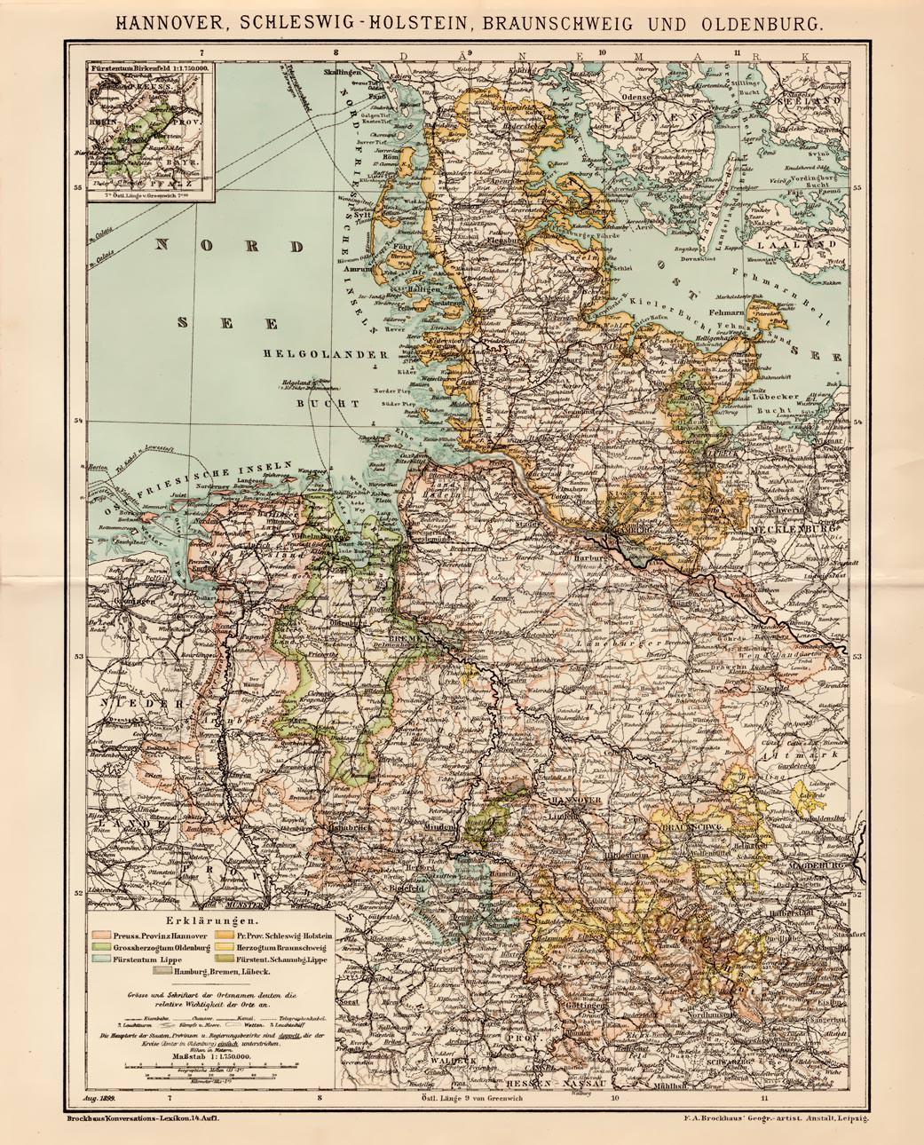 Norddeutschland Karte.Alte Historische Landkarte Norddeutschland
