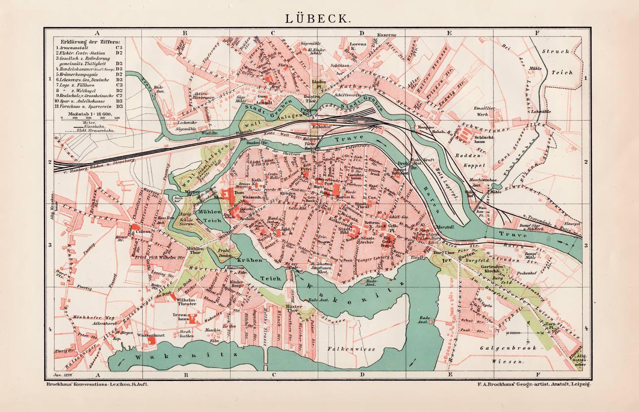 Karte Lübeck.Luebeck Das Karten Zvab