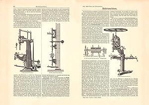 Alter historischer Druck Elektrische Maschinen IV VI Holzstich 1903