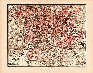 Alte historische Stadtkarte Mailand Stadtplan Lithographie 1906