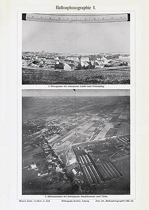 Autotypie 1912 IV Alter historischer Druck Ballonphotographie III