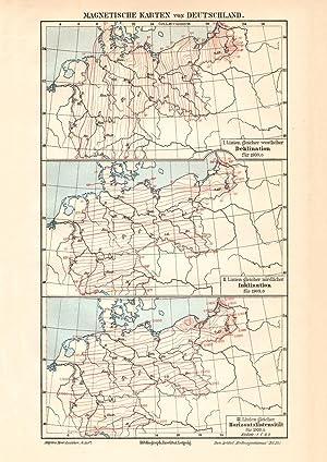 Alte historische Landkarte Schwarzwald Geologie Karte Lithographie 1907