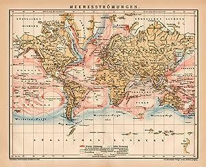 Alte historische Landkarte Länder des Mittelmeers Karte Lithographie 1906