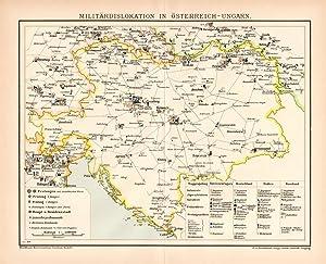 Historischer Druck Seestreitkräfte Nordsee /& Ostsee Karte Lithographie 1906