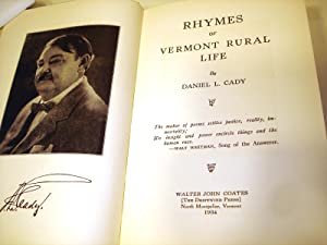 Rhymes of Vermont Rural Life, Series 4 [Four, Fourth, IV]: Daniel L. Cady