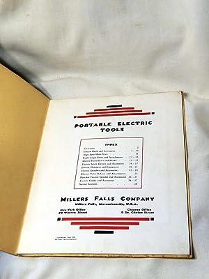 Portable Electric Tools: Millers Falls Company (Catalog No. 3): Millers Falls Company