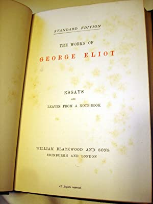 Essays and Leaves from a Note-Book: George Eliot