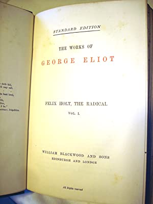Felix Holt, the Radical. 2 volume set: George Eliot