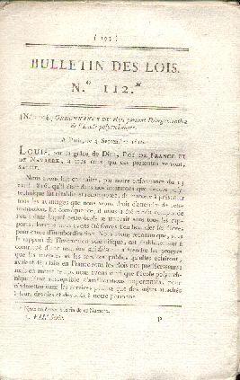 Ordonnance du Roi du 4 septembre 1816 portant réorganisation de l'Ecole Polytechnique: ...
