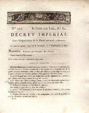Décret Impérial sur l'organisation de la Garde Nationale sédentaire ,au ...