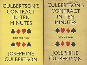 Culbertson's Contract in Ten Minutes: Culbertson Josephine