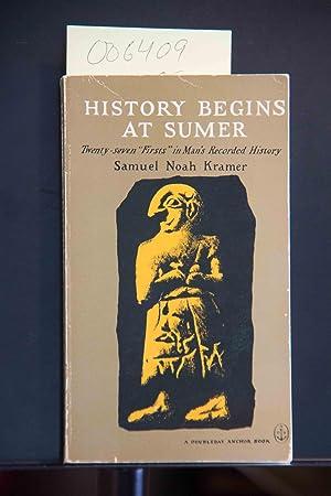 History Begins at Sumer.: Kramer, Samuel Noah,