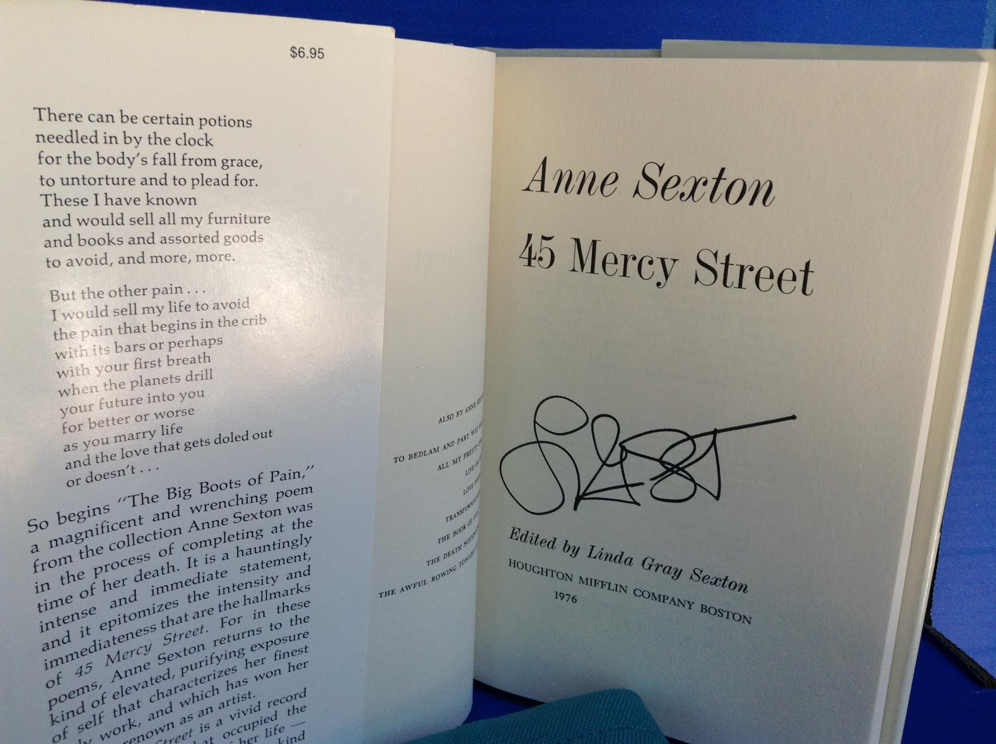 anne sexton mercy street