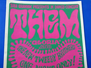 """Them """"Gloria"""" and The New Tweedy Brothers Concert Poster: Wes Wilson (Van Morrison)"""