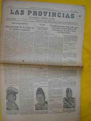 LAS PROVINCIAS. Diario Gráfico. No 20336. Febrero 1936 AAVV Softcover