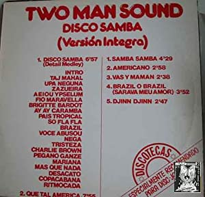 Disco Vinilo - Old vinyl .- TWO MAN SOUND. DISCO SAMBA (VERSION INTEGRAL)