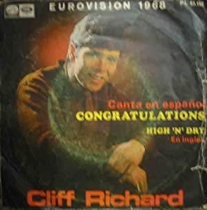 Antiguo Vinilo - Old Vinyl : CLIFF RICHARD : Congratulations (en español); High N Dry (en inglés)