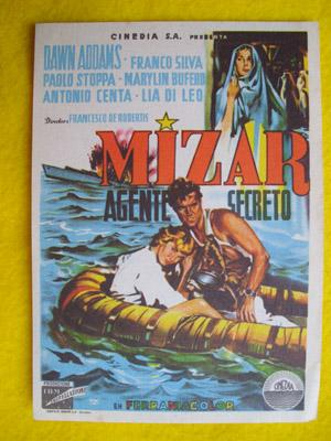 Folleto de mano cine - Cinema hand brochure : MIZAR AGENTE SECRETO