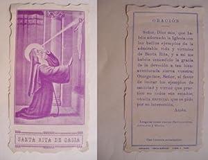 Antigua Estampa - Old Card : SANTA: Sin autor