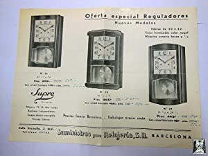 Antiguo folleto publicidad - Old advertising brochure : REGULADORES SUPRE. Relojes