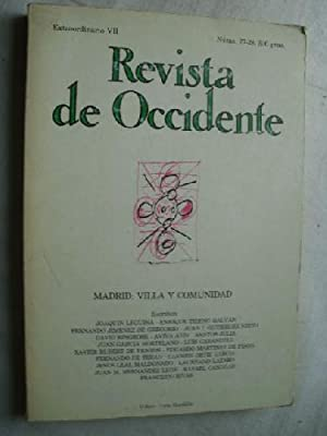 REVISTA DE OCCIDENTE Nº 27/28