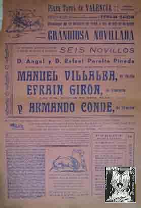 CARTEL PLAZA DE TOROS DE VALENCIA, 2: Sin autor