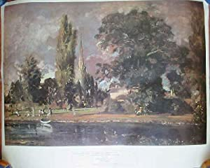 LAMINA : Salisbury Cathedral and Archdeacon Fisher's House - John Constable