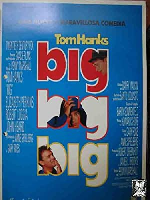 Guía Cine - Cinema Guide : BIG. Tom Hanks, Elizabeth Perkins, Robert Loggia, ?dir: Penny Marshall