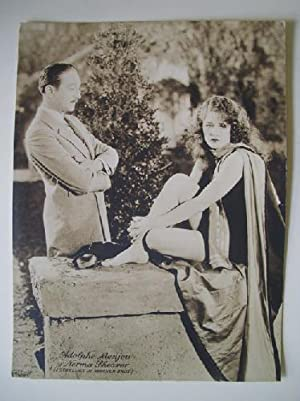 Antigua Fotografía - Old Photography : ADOLPHE MENJOUR Y NORMA SHEARER - Estrellas de Warner Bros