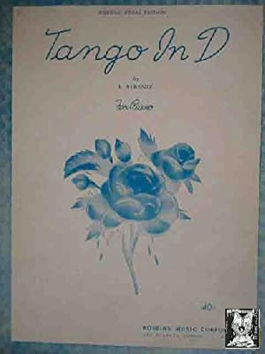 TANGO IN D. By I.Albeniz. For Piano