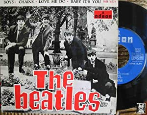 Antiguo Single Vinilo - Old Single Vinyl: THE BEATLES : Boys; Chains; Love me do; Baby it's you