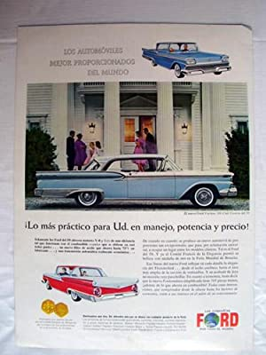 Antigua Hoja Publicidad Revista - Advertising Magazine Old Sheet : FAIRLANE 500 CLUB VICTORIA, Au...