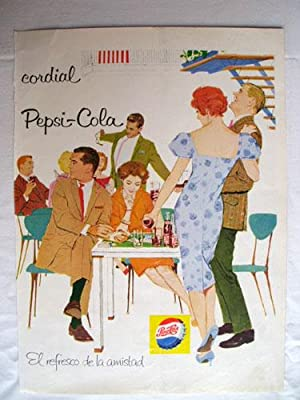 Antigua Hoja Publicidad Revista - Advertising Magazine Old Sheet : PEPSI - COLA. Año 1959