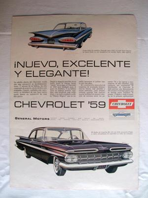 Antigua Hoja Publicidad Revista - Advertising Magazine Old Sheet : CHEVROLET, General Motors. Año...