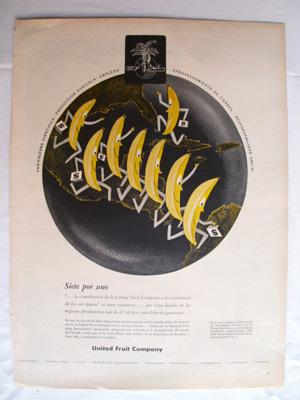 Antigua Hoja Publicidad Revista - Advertising Magazine Old Sheet : UNITED FRUIT COMPANY. Año 1959