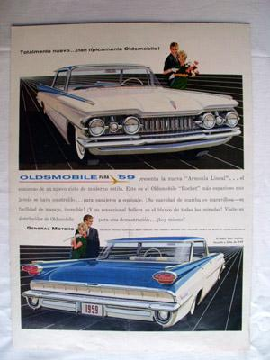 Antigua Hoja Publicidad Revista - Advertising Magazine Old Sheet : OLDSMOBILE, General Motors. Añ...