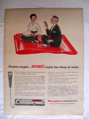 Antigua Hoja Publicidad Revista - Advertising Magazine Old Sheet : DICTABELT, Dictaphone Corporat...