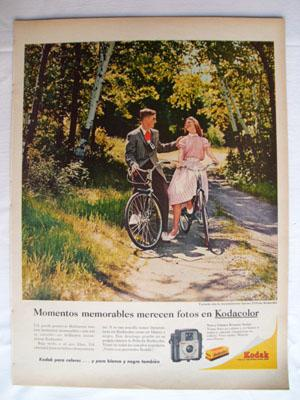 Antigua Hoja Publicidad Revista - Advertising Magazine Old Sheet : KODAK. Año 1959